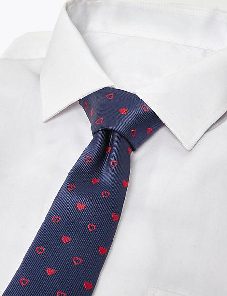 Valentines Heart Jacquard Tie