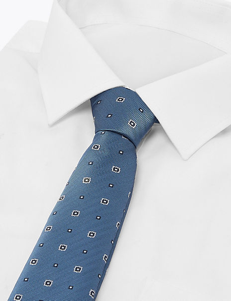 Geometric Slim Tie