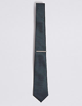 Micro Diamond Tie & Pin Set