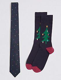 Novelty Tie & Socks Set