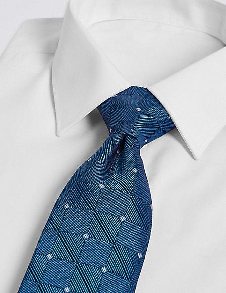 Pure Silk Square Motif Tie
