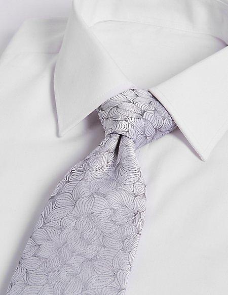 Pure Silk Leaf Motif Tie