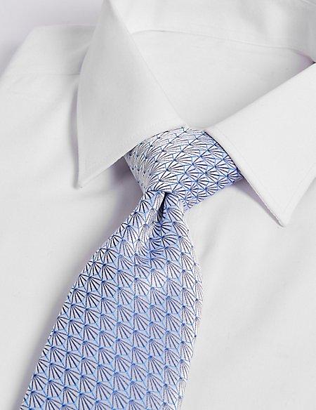 Pure Silk Fan Motif Tie