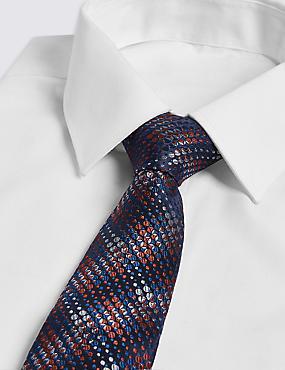 Pure Silk Checked Tie