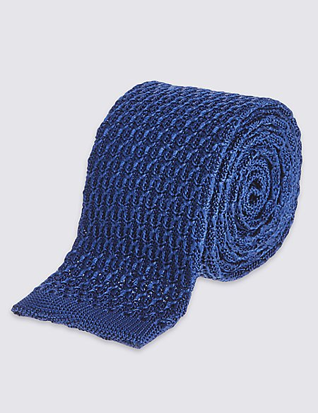 Pure Silk Luxury Knitted Tie