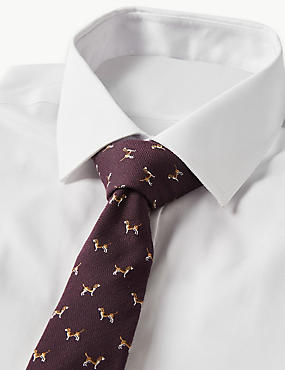 Wool Blend Beagle Tie