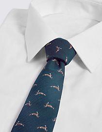 Wool Blend Hare Tie