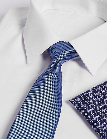 Circle Hank & Textured Tie Set