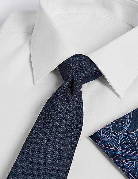 Leaf Hank & Textured Tie Set