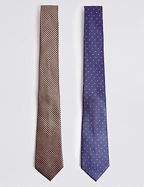 2 Pack Geometric Tie