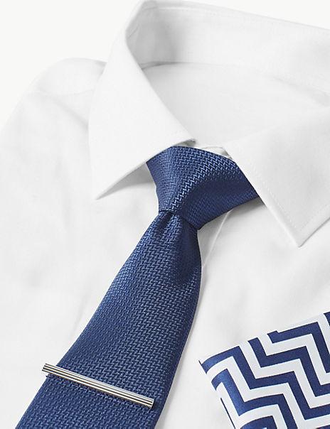 3 Piece Zig Zag Hank, Tie & Pin Set