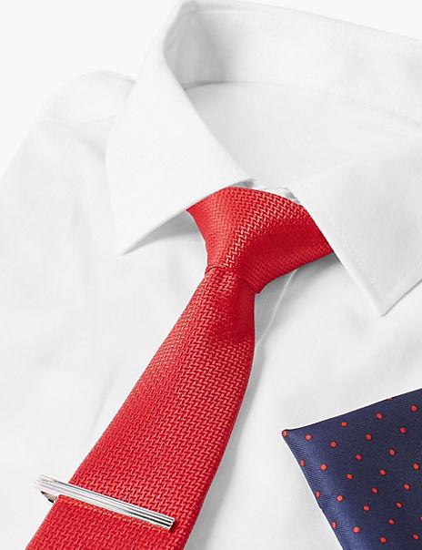 3 Piece Pocket Square, Tie & Pin Set