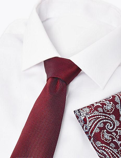 Paisley Pocket Square And Slim Tie Set