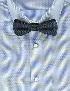 Pure Silk Waffle Textured Bow Tie