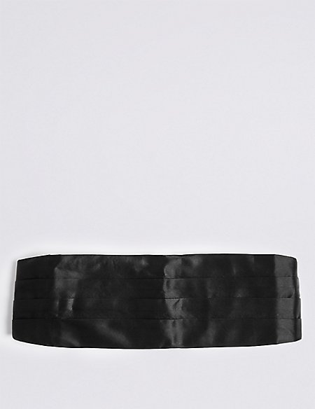 Pure Silk Pleated Cummerbund