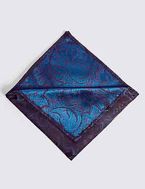 Pure Silk Floral Pocket Square
