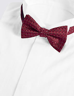 Geometric Bow Tie, BURGUNDY MIX, catlanding