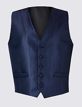 Geometric Print Waistcoat