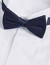 Pure Silk Spotted Bow Tie