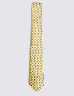 Pure Silk Dragonfly Print Tie