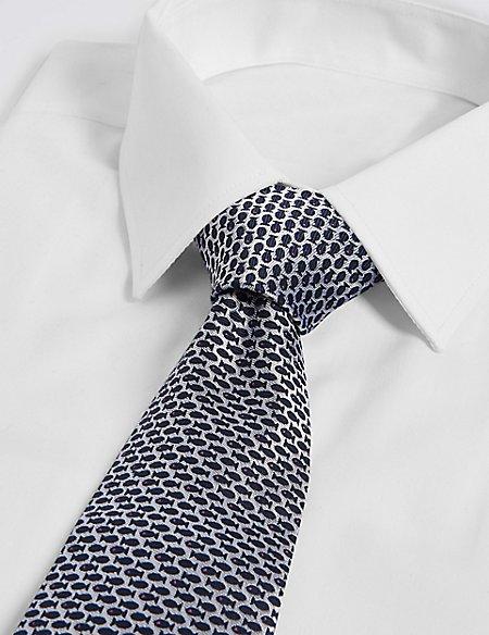 Pure Silk Micro Fish Tie