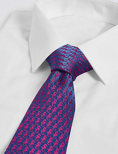 Pure Silk Seahorse Tie