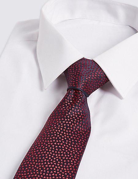Pure Silk Micro Hearts Tie