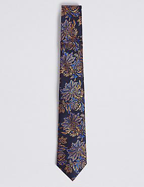 Pure Silk Floral Tie