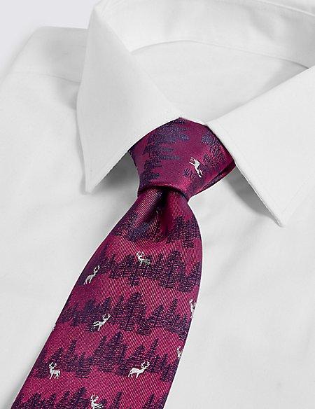 Pure Silk Stag Tie