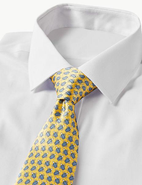 Pure Silk Turtle Print Tie