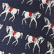 Pure Silk Horse Print Tie, NAVY MIX, swatch