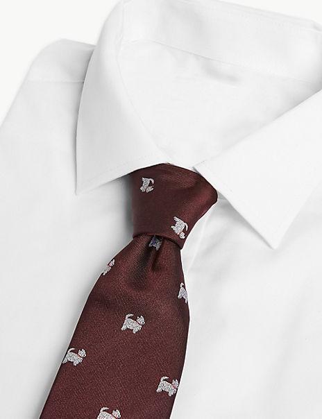 Luxury Silk Classic Westie Tie