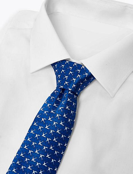 Luxury Silk Classic Swallow Print Tie