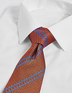 Pure Silk Textured Stripe Tie