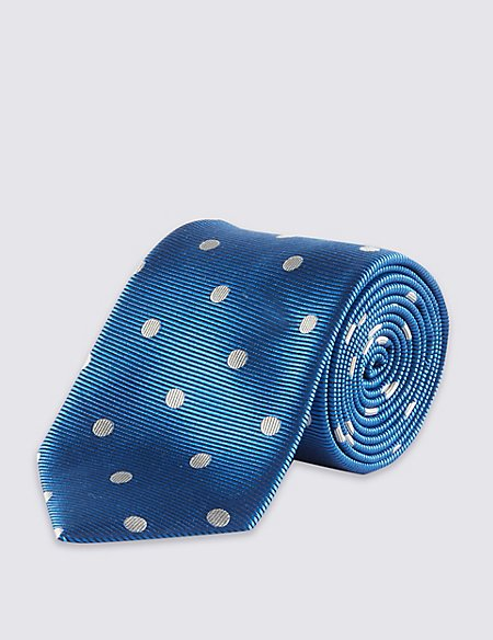 Pure Silk Twill Spotted Tie