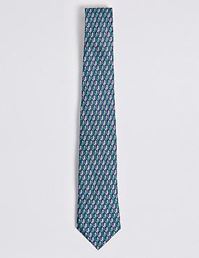 Pure Silk Monkey Print Tie