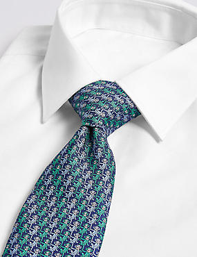 Pure Silk Monkey Print Tie
