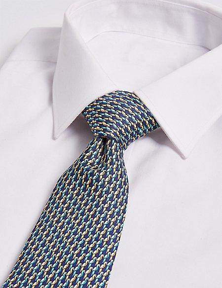 Pure Silk Parrot Print Tie
