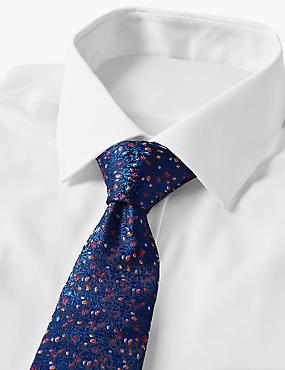 Pure Silk Made in Italy Floral Tie