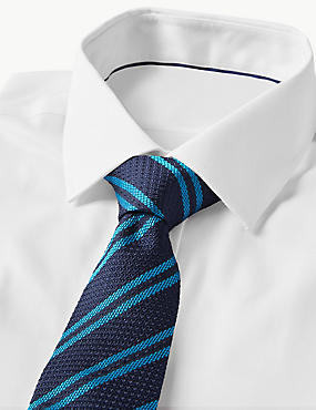 Pure Silk Made in Italy Striped Tie