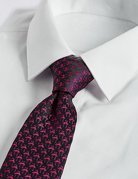 Pure Silk Mini Flamingo Tie