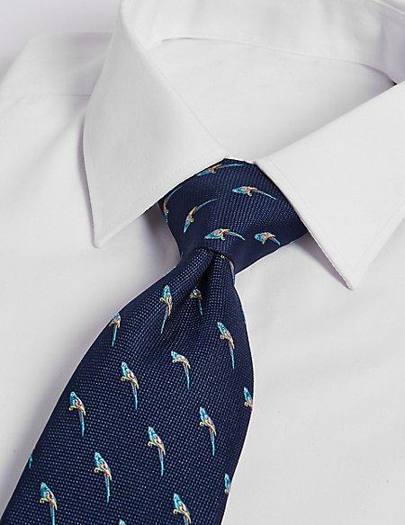 Pure Silk Parrot Tie