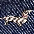 Pure Silk Dog Design Tie, NAVY MIX, swatch