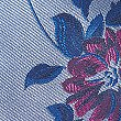 Pure Silk Floral Print Tie, BLUE, swatch