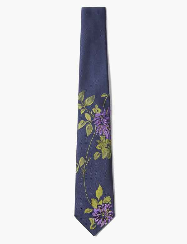 958964178f81 Pure Silk Floral Tie. Online Only