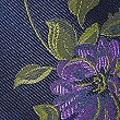 Pure Silk Floral Print Tie, NAVY, swatch