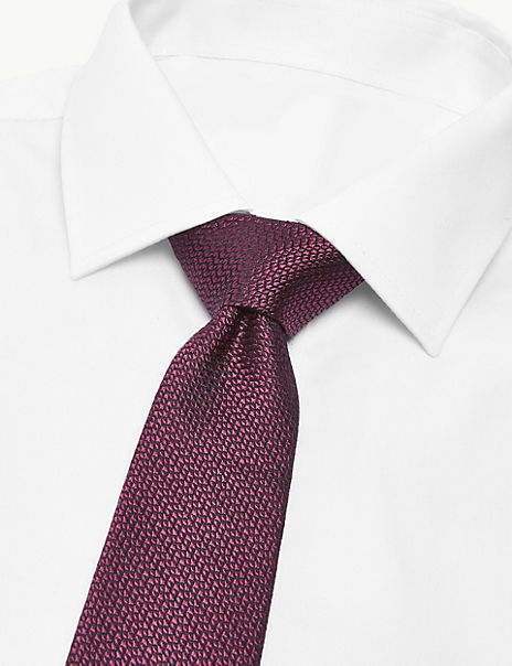 Pure Silk Made in Italy Textured Tie