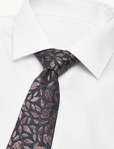 Pure Silk Made in Italy Leaf Tie