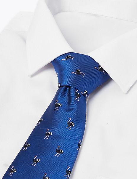 Pure Silk Emu Woven Tie