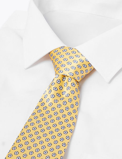 Pure Silk Football Print Tie